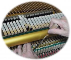 ピアノアクション 接近調整 レットオフ