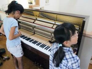 ピアノアクションが見えた
