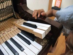 鍵盤の調整
