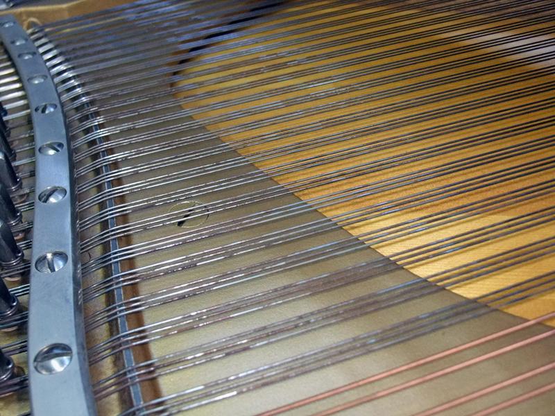 岡本ピアノ工房ピアノクリーニング 弦磨きbefore